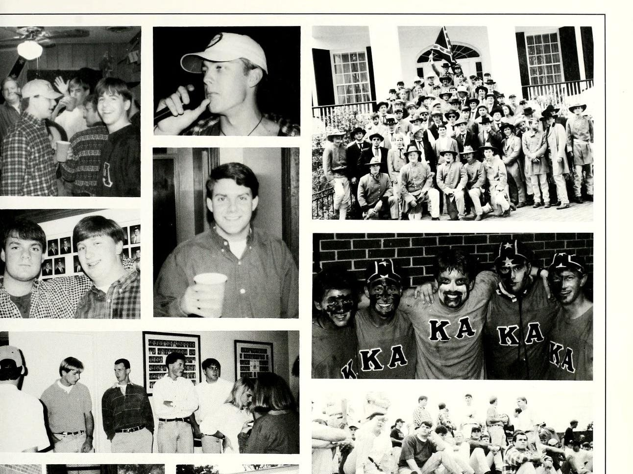 A page from the Kappa Alpha section in the 1994-1995 yearbook of Millsaps College.