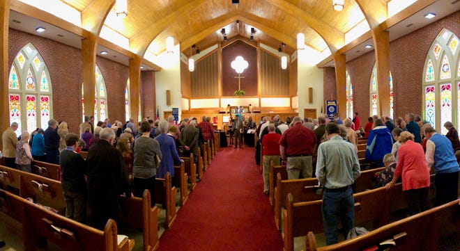 Aldersgate church's worship is a blended service ranging from older hymns to current Christian contemporary music.