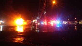A Super-Lube auto shop in Jackson was destroyed Thursday night in a fire.