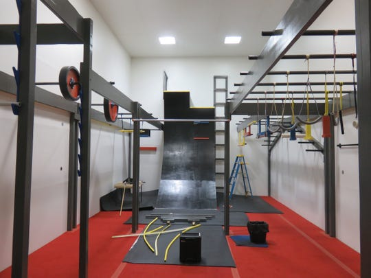A view of the church's Ninja Gym on Feb. 6, shortly before some final touch-up work was done.