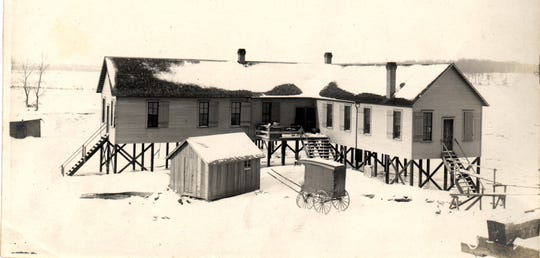 """-A detention center, also known as a """"pest house,"""" was used to quarantine patients with contagious diseases such as diptheria and smallpox. Used in the early years of the 20th century, it was on the west side of the Wabash River, south of the railroad bridge."""