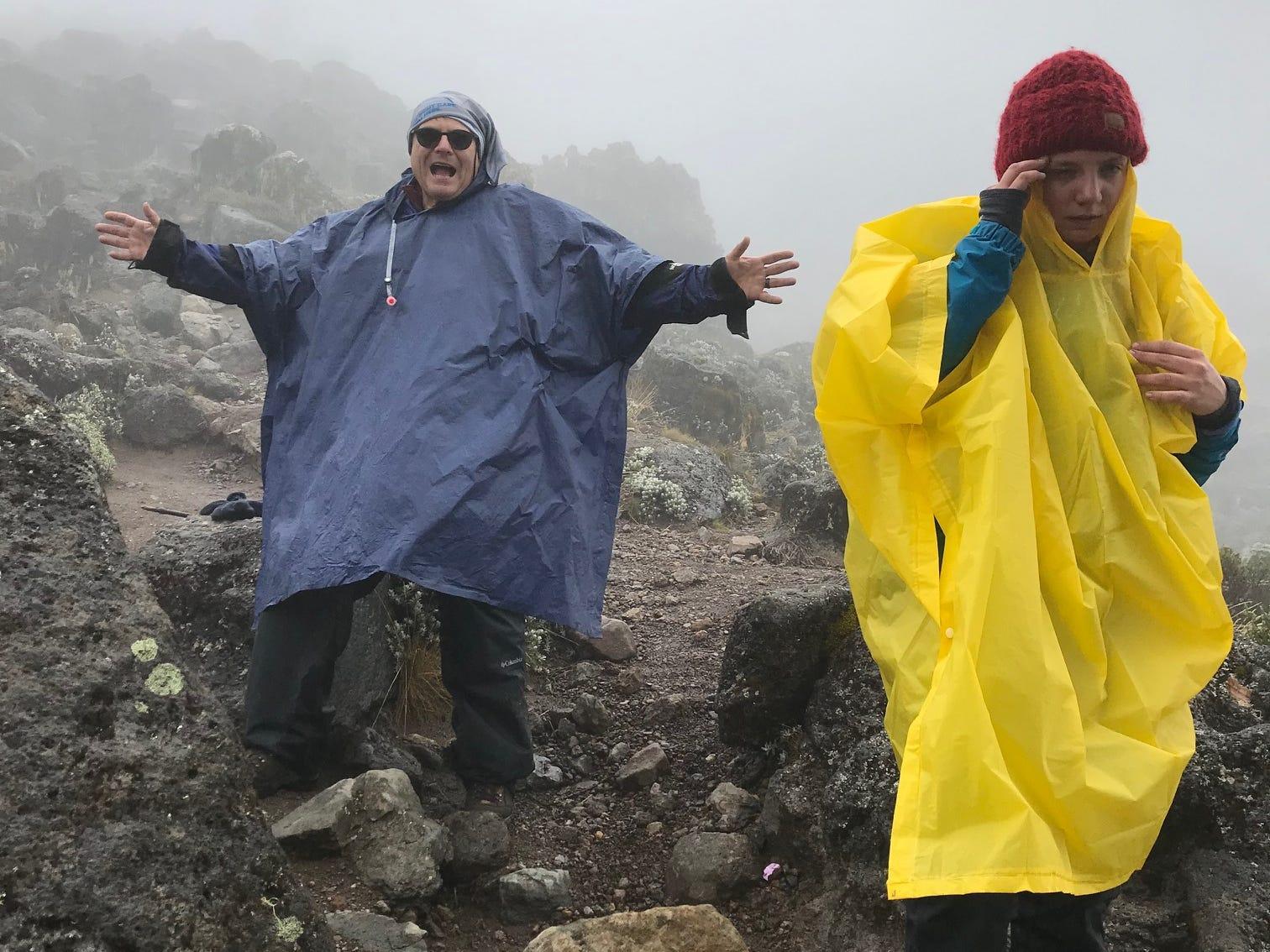 John Grantz and Jordan Grantz trekking Mount Kilimanjaro, Tanzania