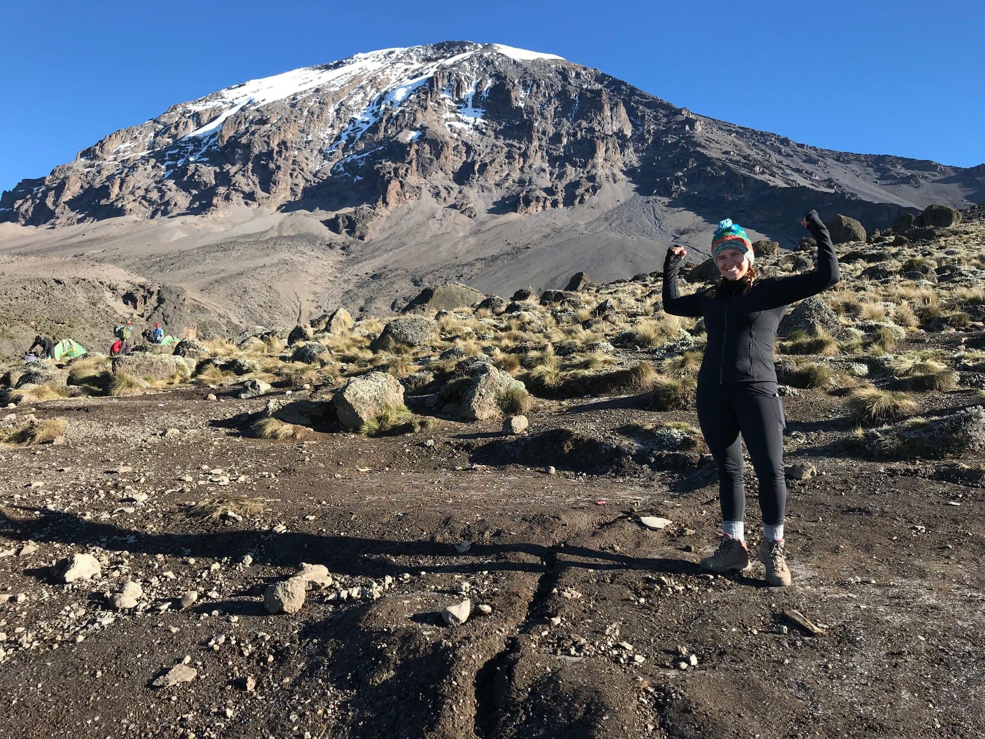Elliott Grantz on Mount Kilimanjaro, Tanzania