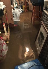 A failed sump pump resulted in 5 inches of standing water in the basement.