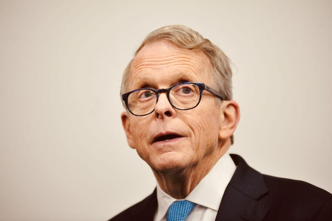 "Ohio Gov. Mike DeWine said his staff is working on ""red flag"" legislation to keep guns away from people who pose a threat to themselves or others."