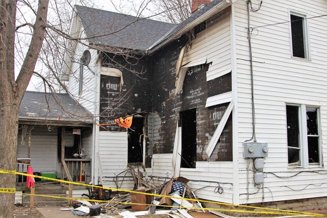 Firefighters responded to a blaze in the 300 block of Pearl Street Thursday afternoon.