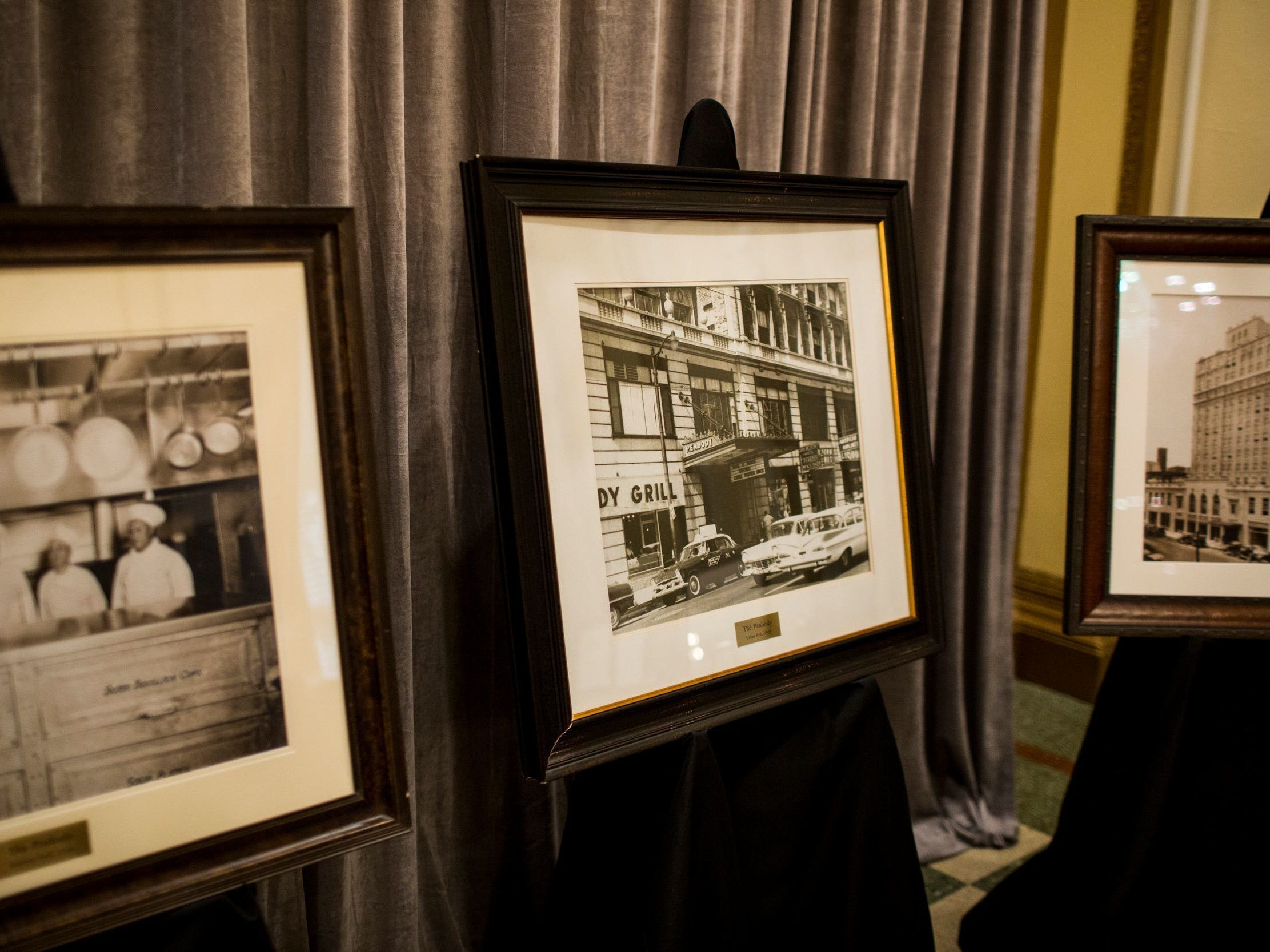 Historic photos were on display during The Peabody 150th anniversary media launch party Feb. 6, 2019. The Peabody Memphis will celebrate its 150th anniversary in 2019 with a series of special offers and events.