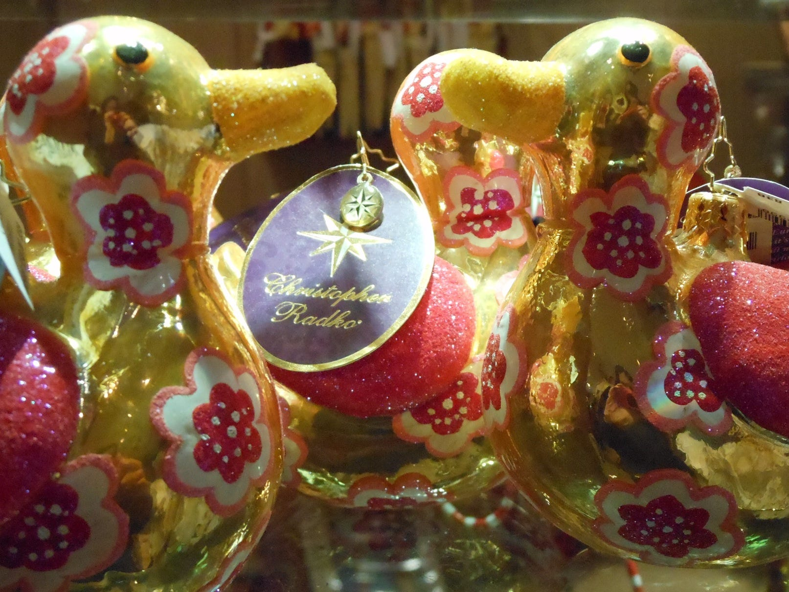Duck ornaments, here Dec. 20, 2013, are for sale at a gift shop in the lobby of The Peabody Hotel in Memphis.