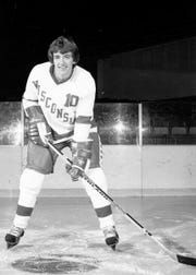 Mark Johnson played for the University of Wisconsin hockey team from 1976-79, helping the Badgers to the 1977 NCAA title as a freshman.