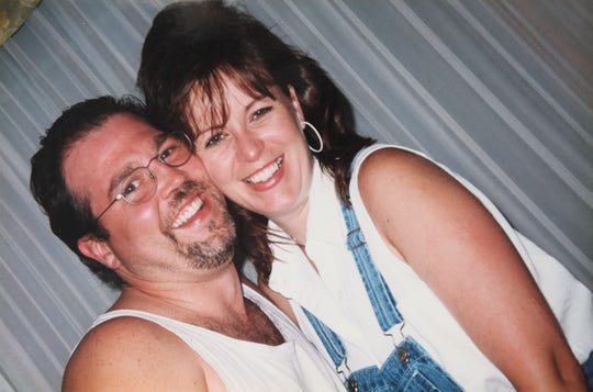Joe Hausch and his wife, Sharon Hausch, are shown in a photo taken in 1997, less than a year after their first date.