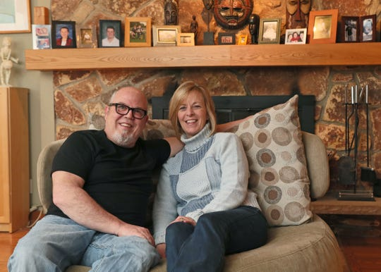 Joe Hausch and his wife Sharon Hausch at their Franklin home.