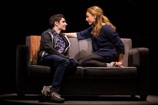 "Ben Levi Ross and Jessica Phillips perform in the national touring company of ""Dear Evan Hansen."""