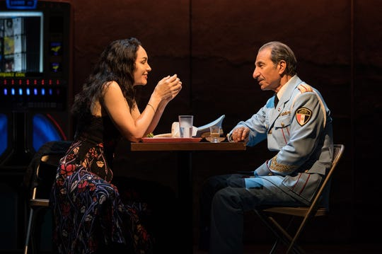 "Katrina Lenk and Sasson Gabay perform in the national touring company of ""The Band's Visit."""