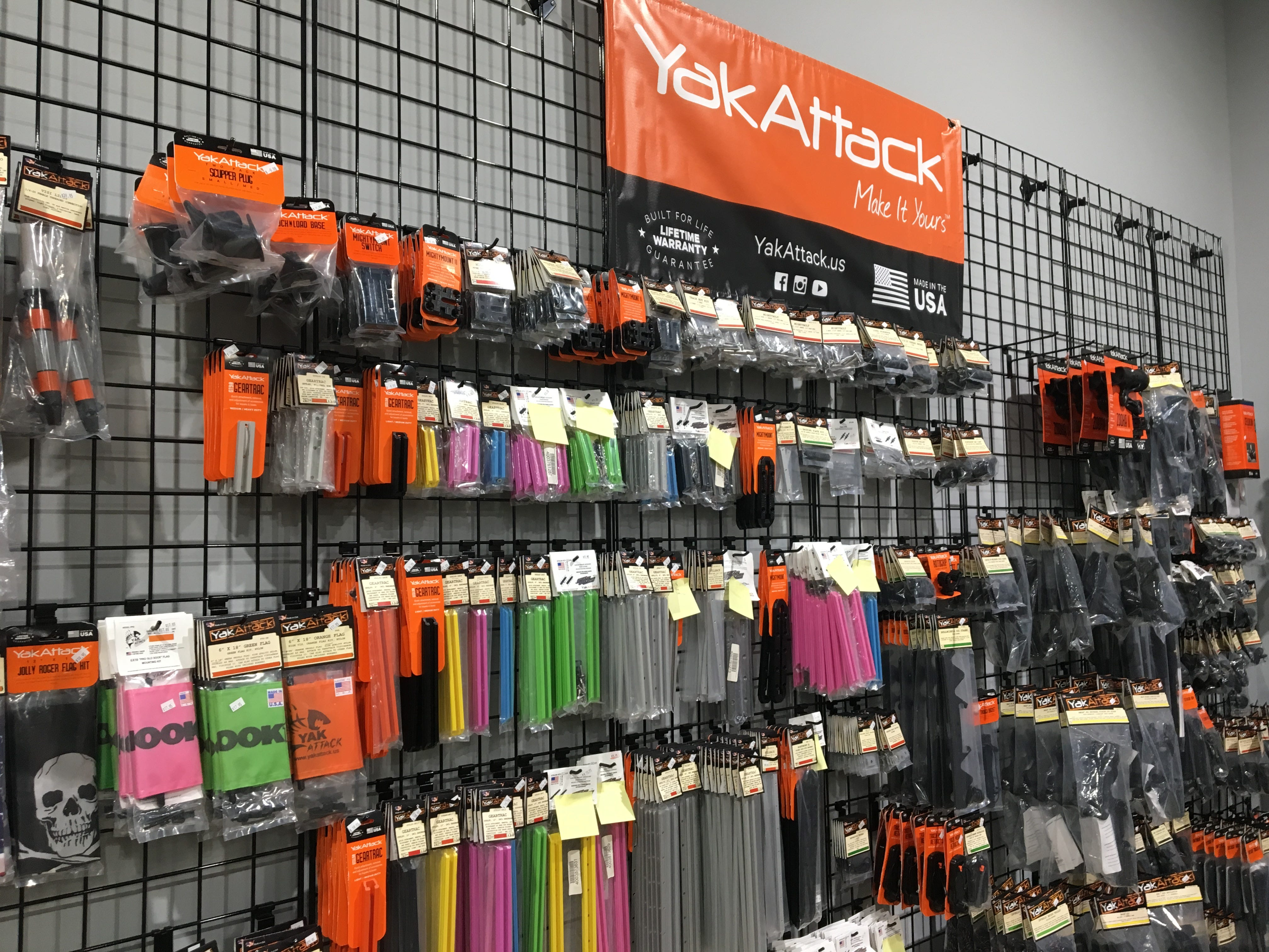 Hook 1 outfitters in Murfreesboro sells accessories for your fishing kayak.