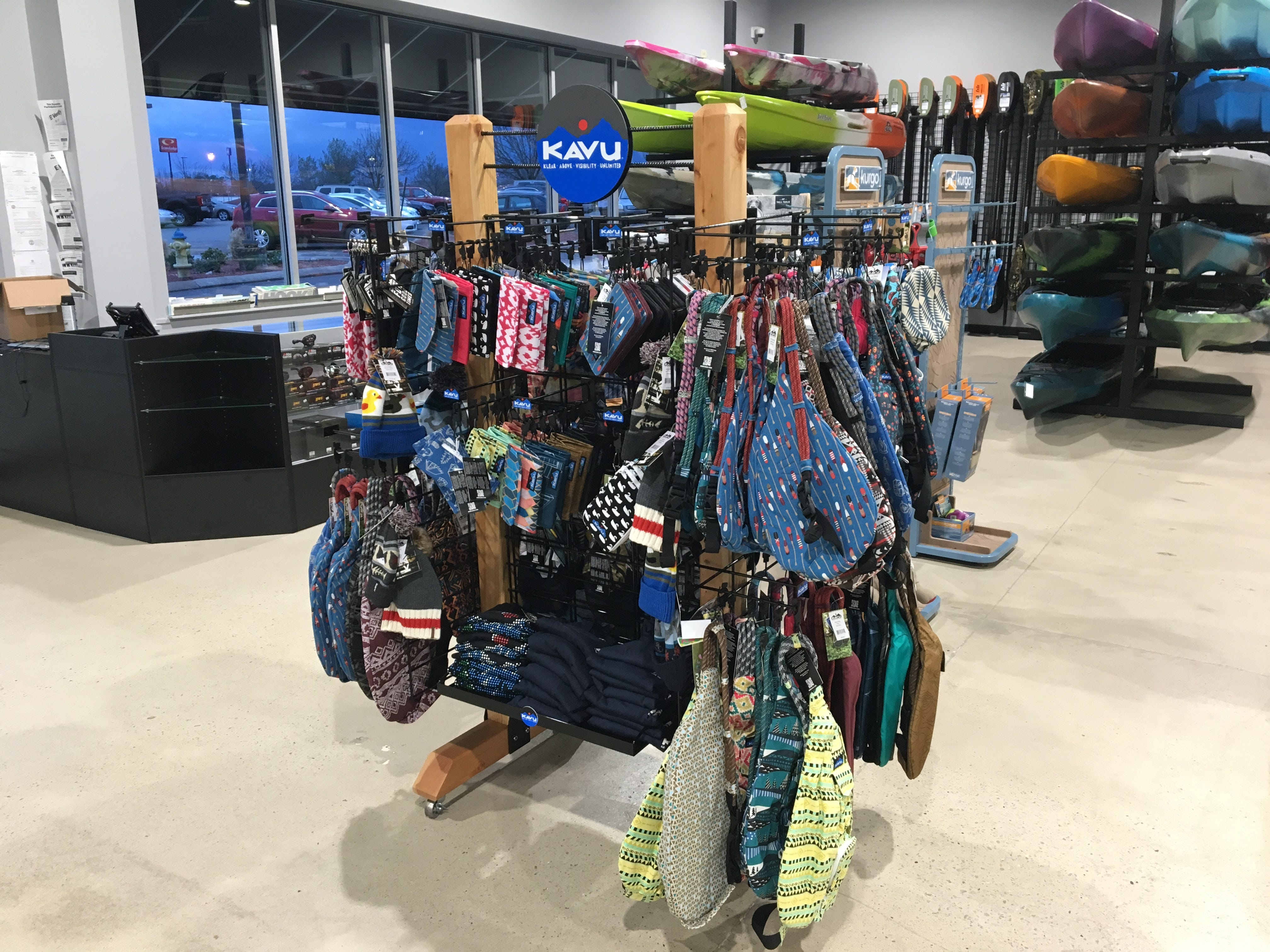 Hook 1 outfitters in Murfreesboro sells Kava brand outdoor accessories such as wallets and bags.