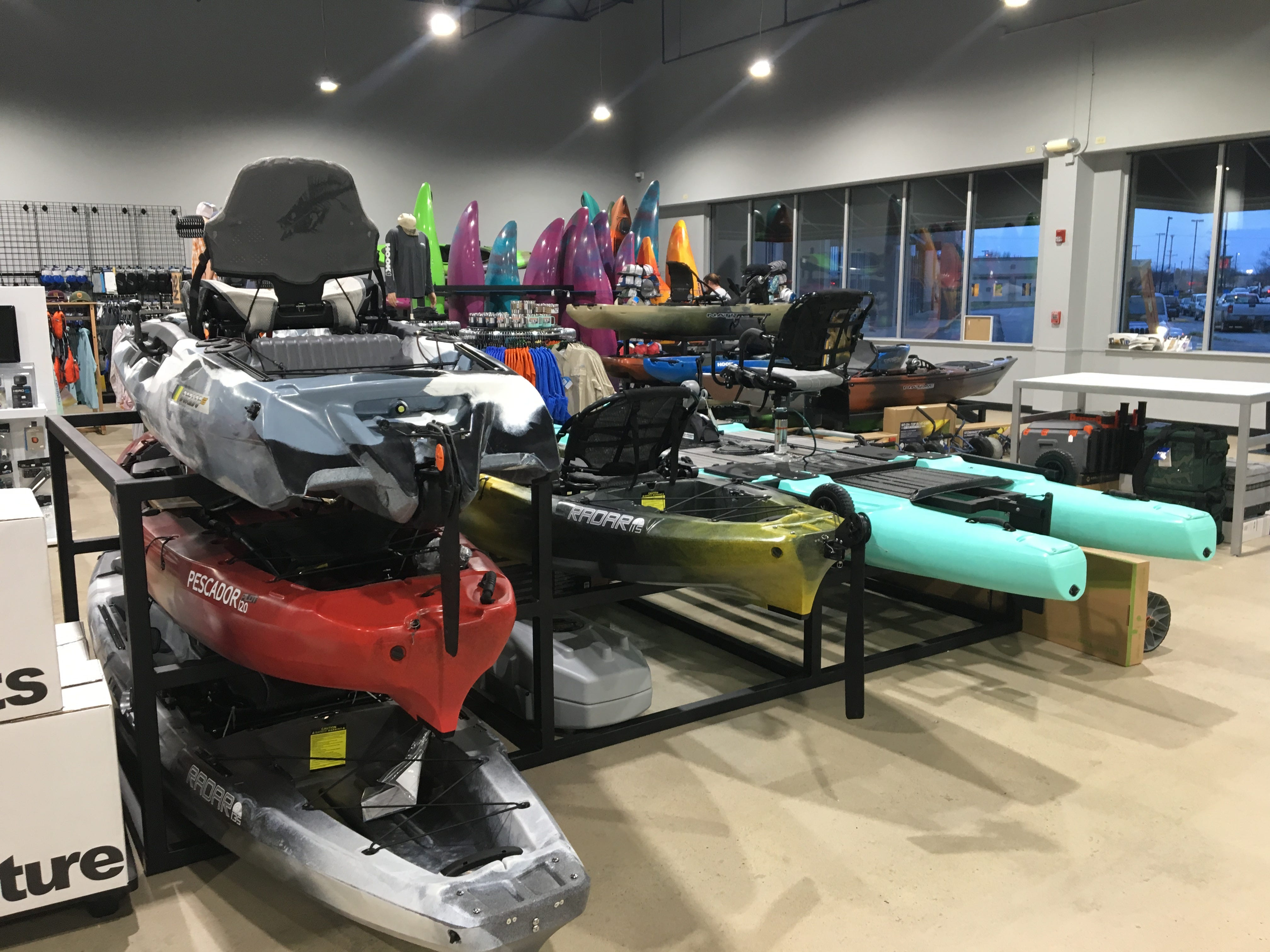 Need a little more push on the water? Hook 1 outfitters sells pedal-driven kayaks.