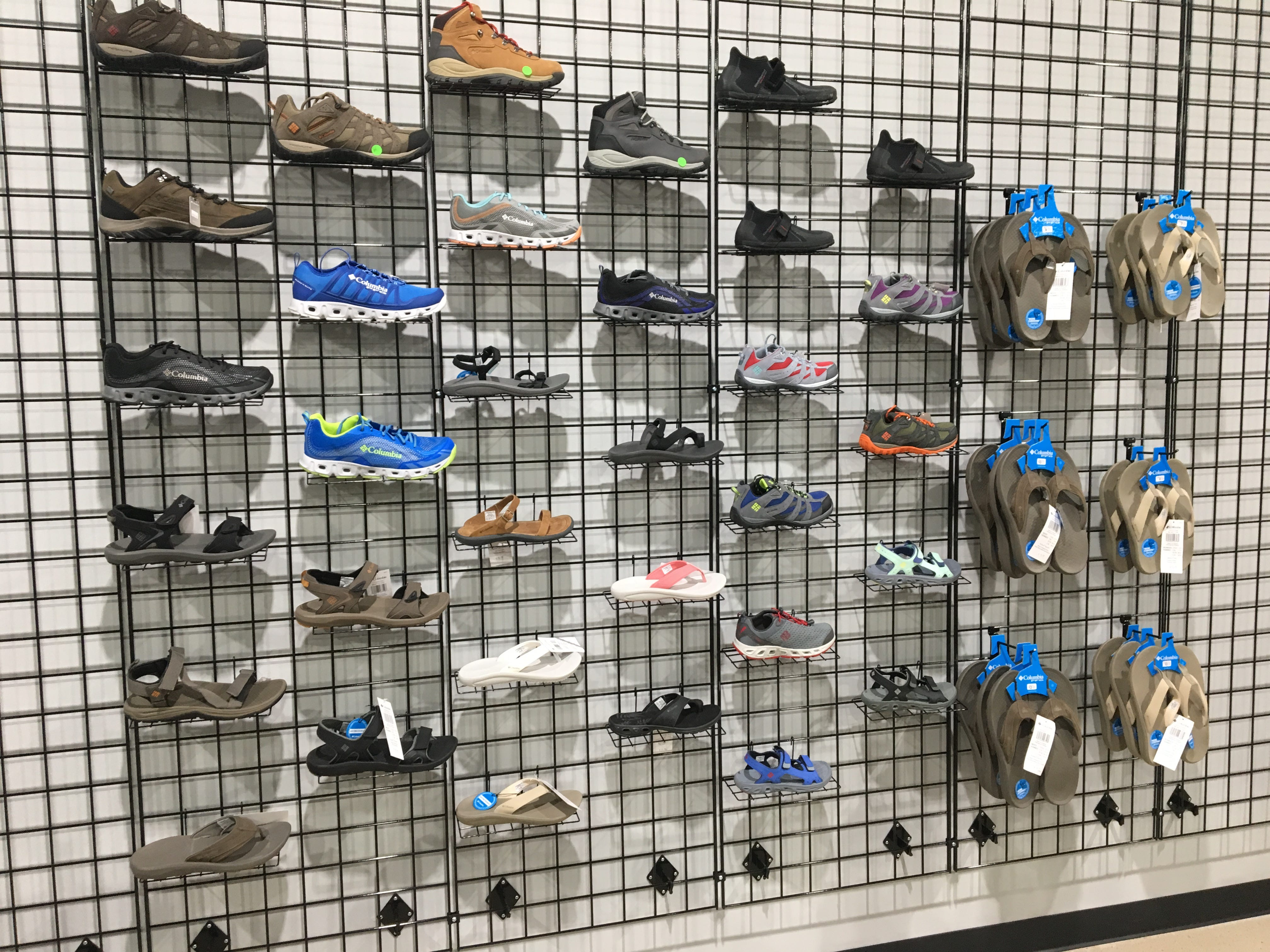 You'll find a selection of Columbia footwear at Hook 1 outfitters in Murfreesboro.