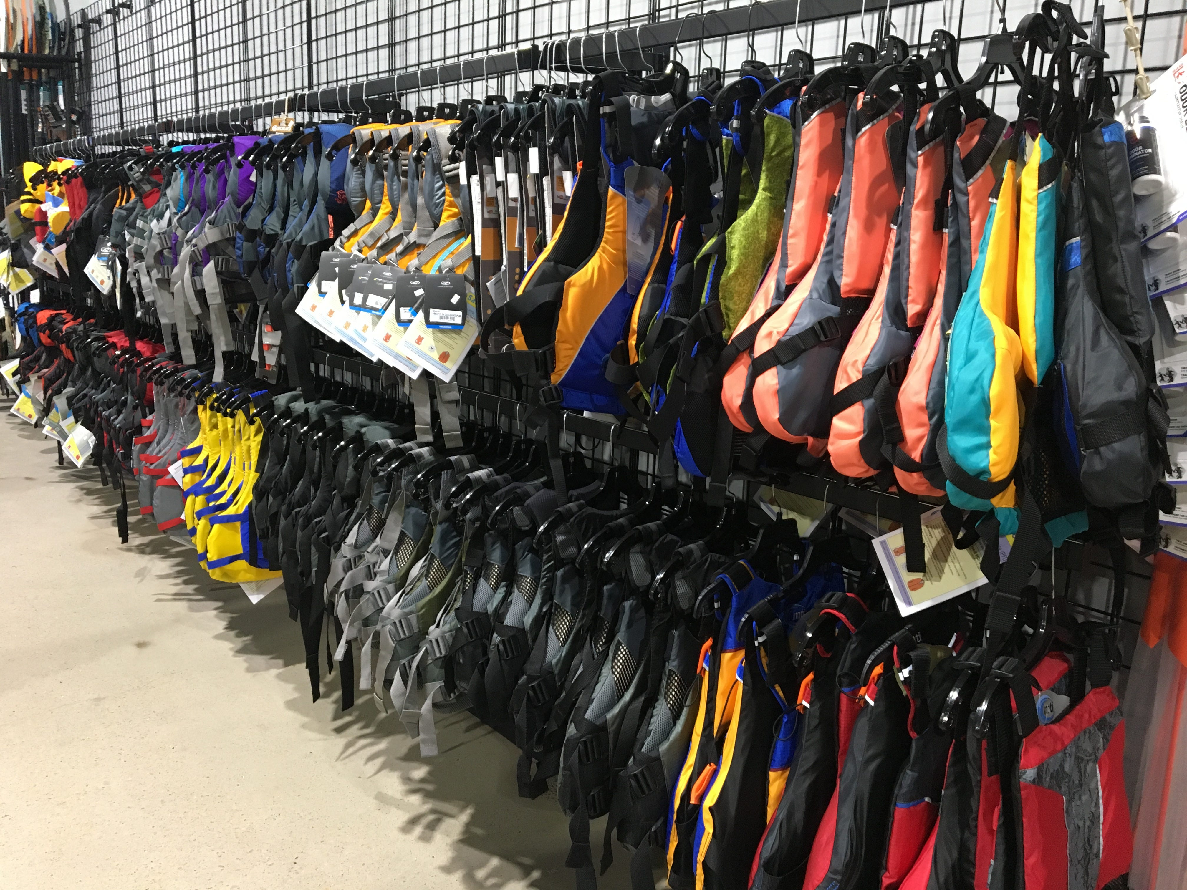 The No. 1 rule on the water is safety, so be sure you have a quality life jacket. Hook 1 outfitters in Murfreesboro sells a variety of sizes and styles.