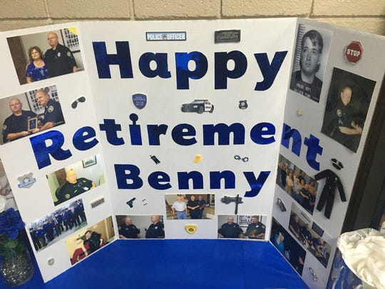 Photos and memorabila were on display at Benny Adam's retirement reception at the Gallatin Civic Center on Feb. 8, 2019.