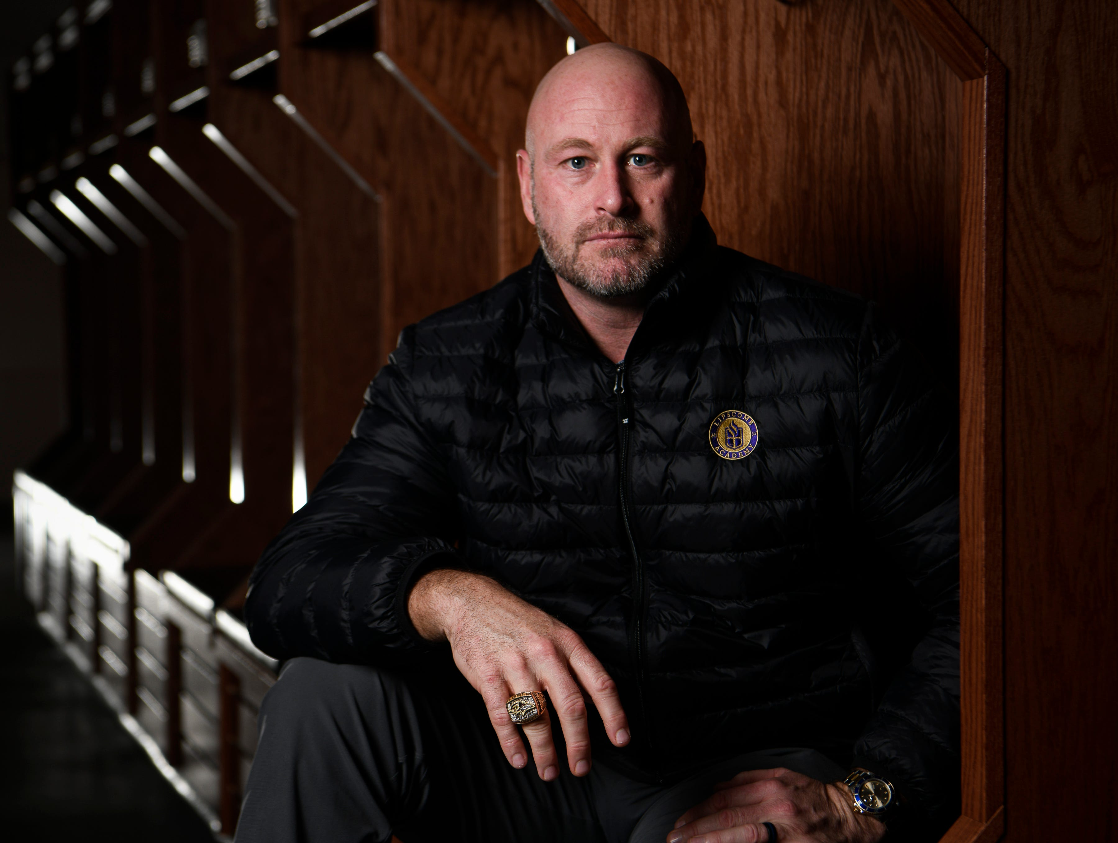 Former NFL quarterback and TV football analyst Trent Dilfer will be the new football coach at Lipscomb Academy. photographed Thursday Feb. 7, 2019 in Nashville, Tenn.