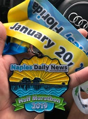 Oscar Santiago Torres participated in the Naples Daily News Half Marathon – his first half marathon – Sunday, Jan. 20, 2019, in downtown Naples.
