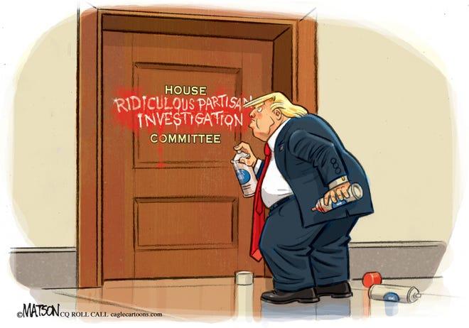 trump spray-paints door