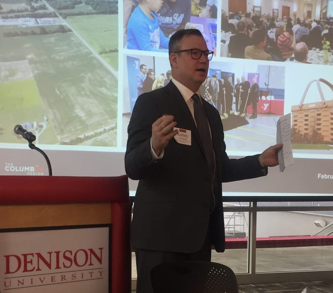 Kenny McDonald, president and CEO of Columbus 2020, spoke at the 39th annual Denison Business & Industry Breakfast Feb. 8.