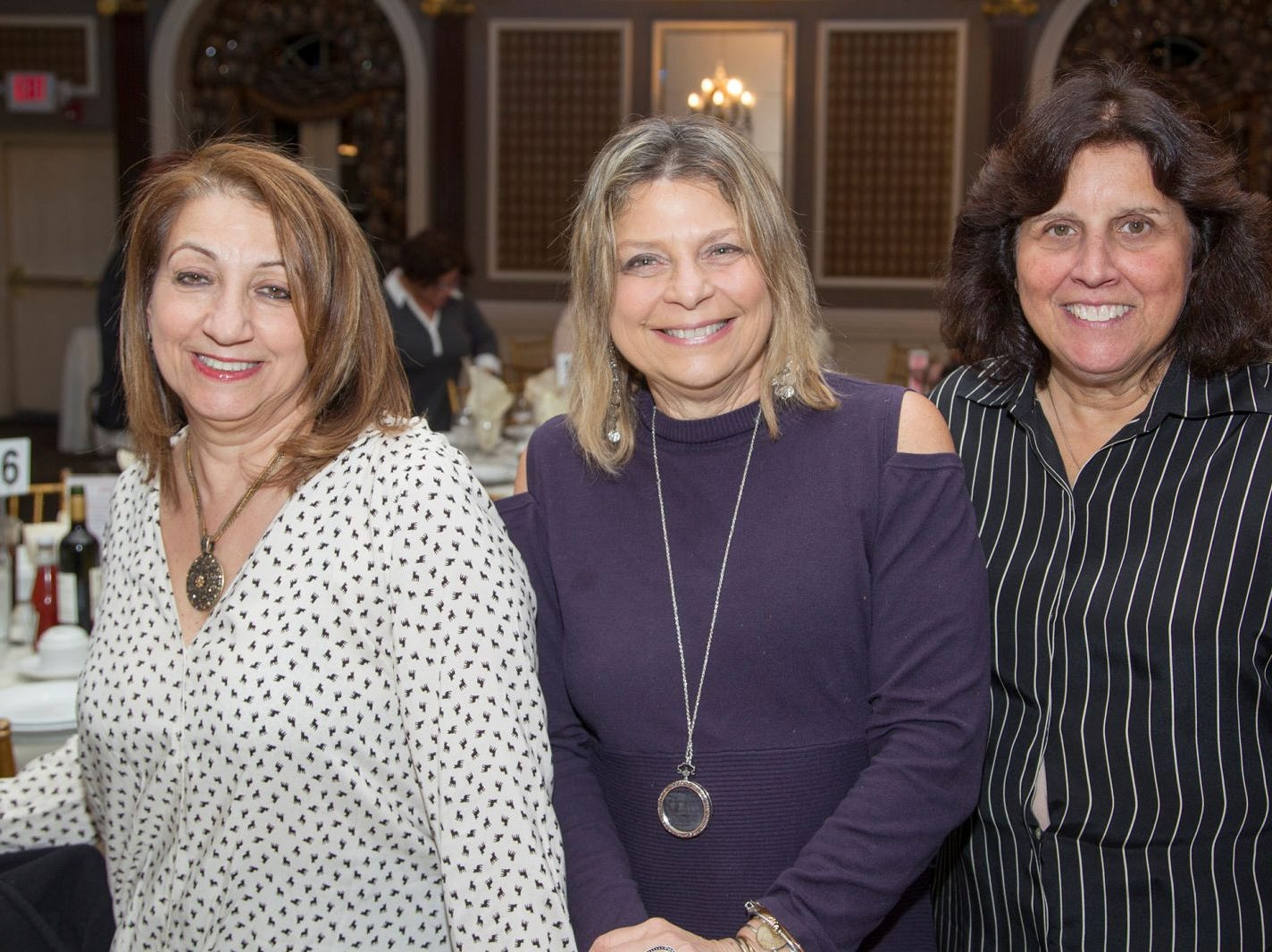 Karan Arakelien, Diane Markley, Barbara Schiffman. A Night at the Races hosted by OASIS at the Brownstone in Paterson. 2/7/2019