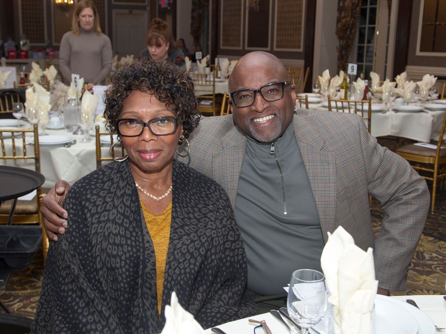 Laverine and Omar Smith.  A Night at the Races hosted by OASIS at the Brownstone in Paterson. 2/7/2019