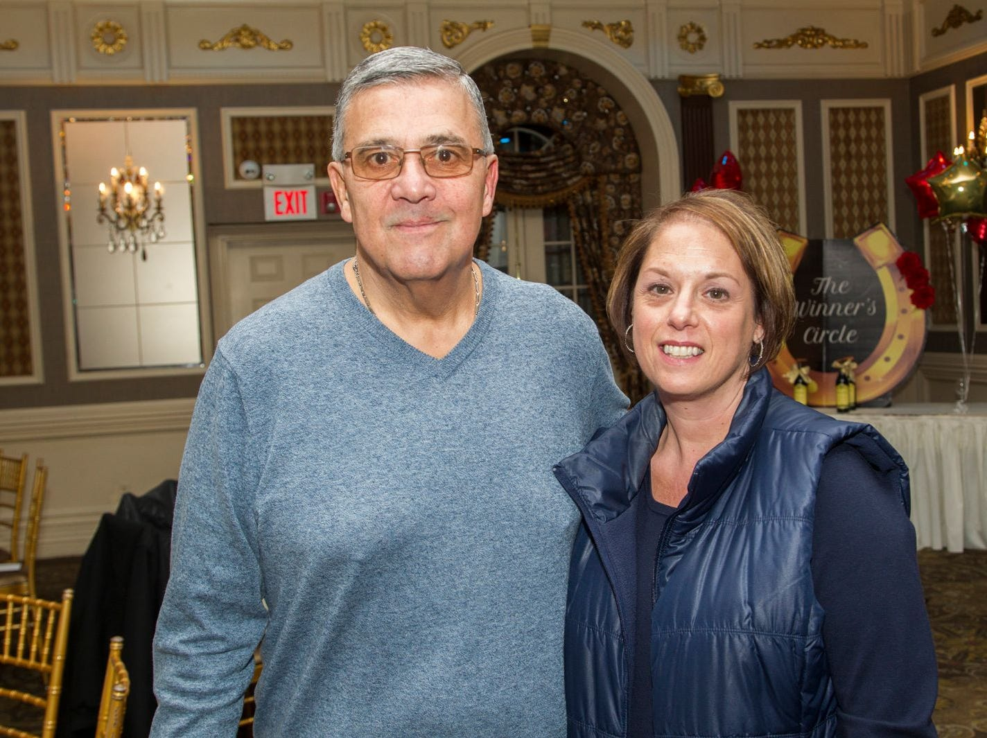 Joe and Christine Pasquarlello. A Night at the Races hosted by OASIS at the Brownstone in Paterson. 2/7/2019