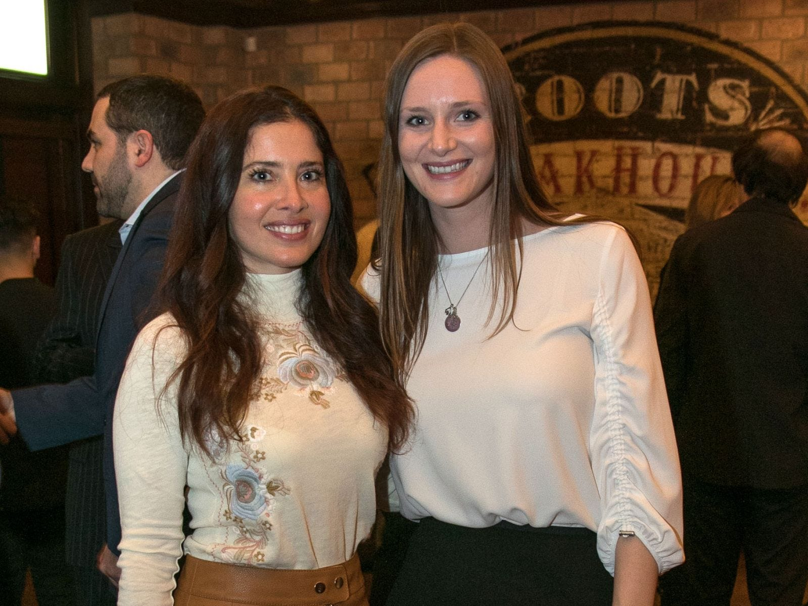 Melanie Capello, Cara Batelli. Christina Gibbons of Special Properties held a cocktail reception to acknowledge her clients at Roots Steakhouse in Ridgewood. 02/07/2019