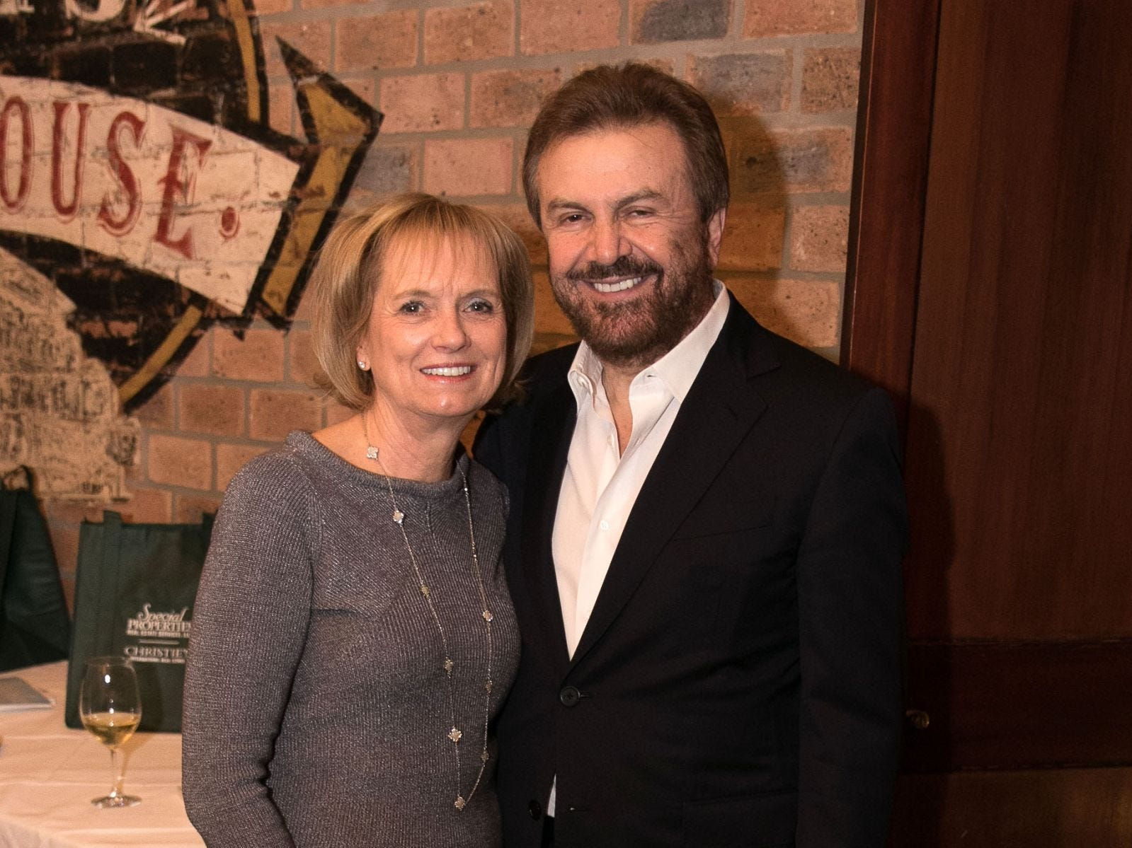 Darlene Bandazian, Ilija Pavlovic. Christina Gibbons of Special Properties held a cocktail reception to acknowledge her clients at Roots Steakhouse in Ridgewood. 02/07/2019