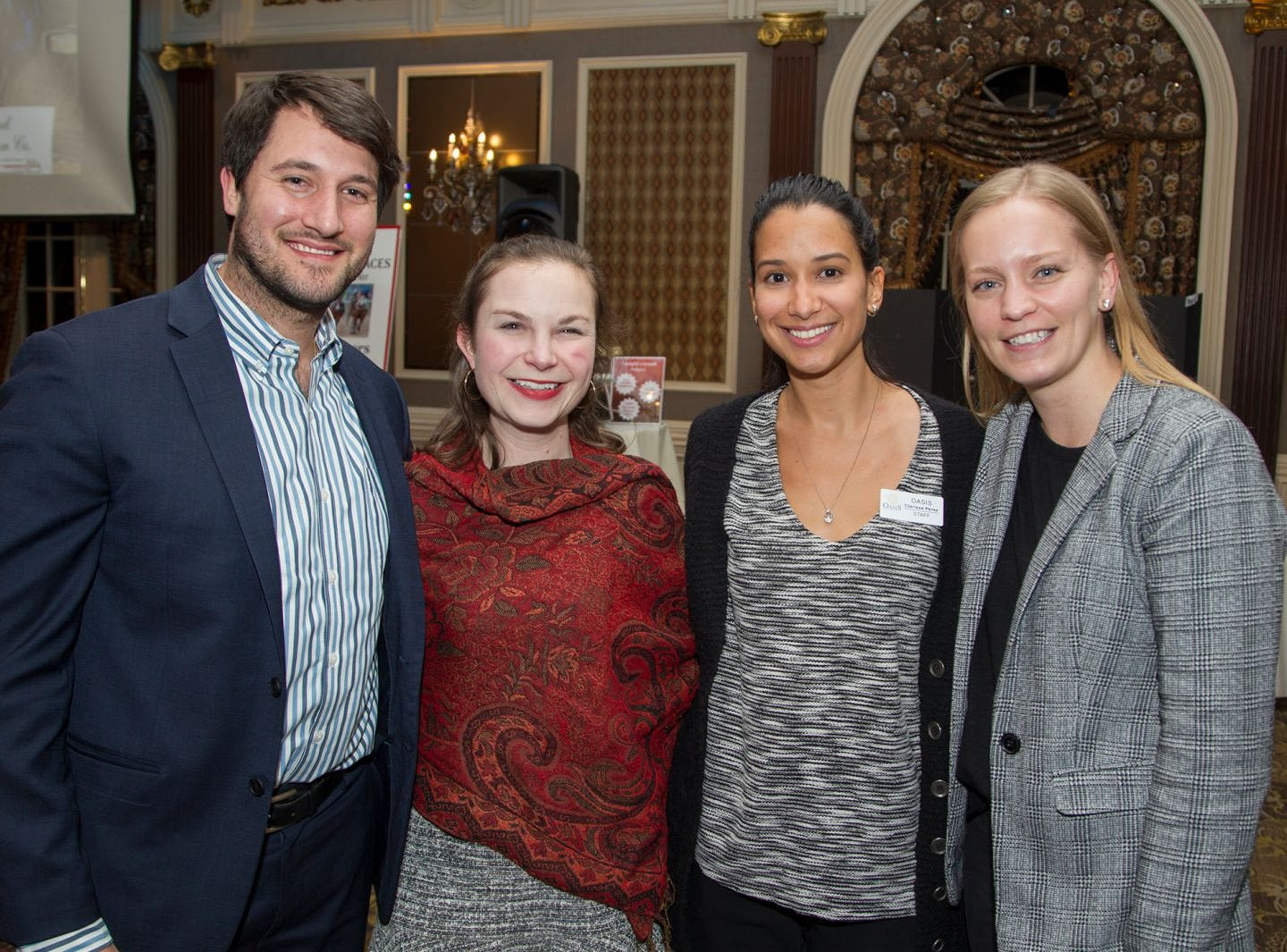 Ransy Pearce, Emily Simson, Clarissa Perez, Kristin Mone. A Night at the Races hosted by OASIS at the Brownstone in Paterson. 2/7/2019