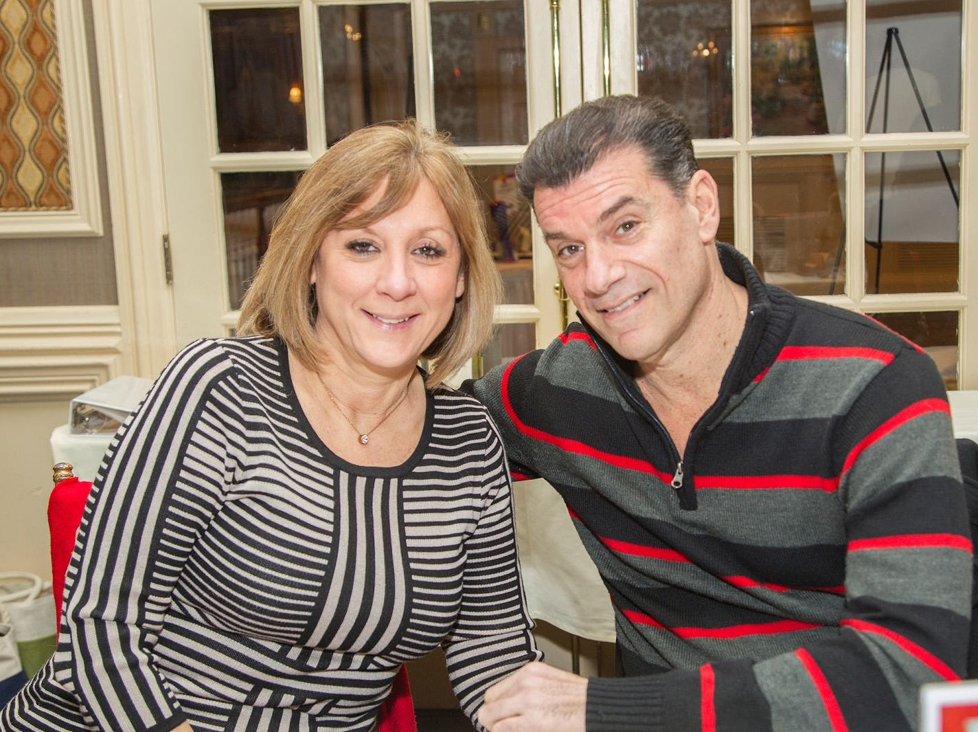 Evelyn Cuciti, John Bianco.  A Night at the Races hosted by OASIS at the Brownstone in Paterson. 2/7/2019