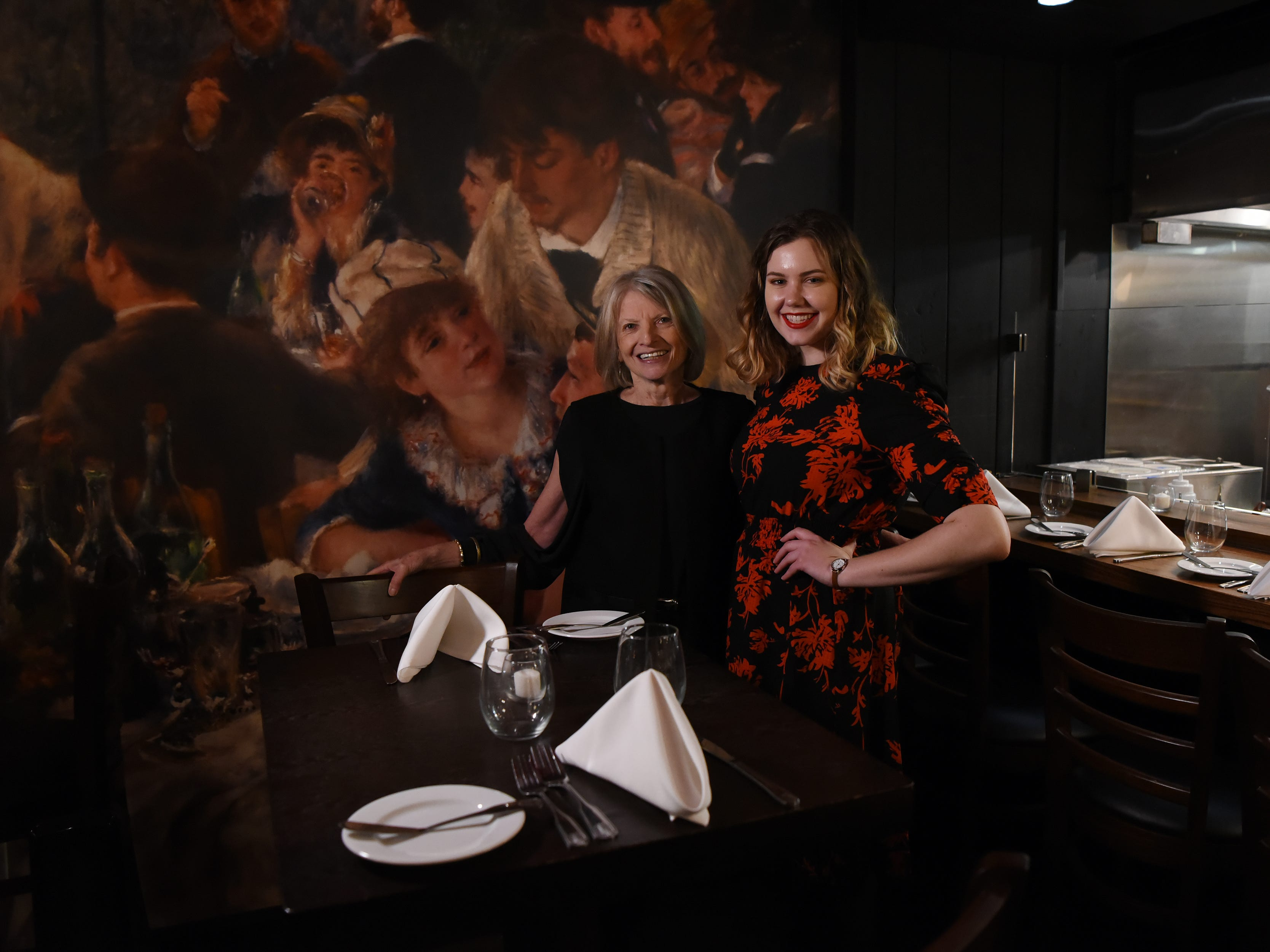 Food editor Esther Davidowitz and food and dining reporter Rebecca King at the dinner with Esther at Technique, a French restaurant in Westwood on Thursday February 7, 2019.