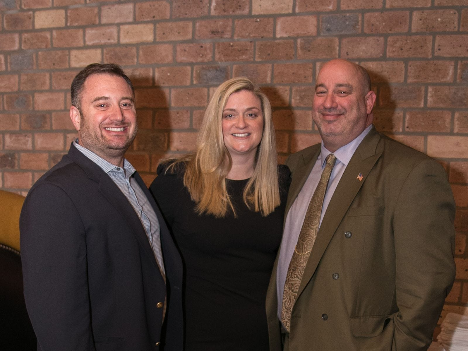 Scott Orr, Christina Gibbons, Eric Abramson. Christina Gibbons of Special Properties held a cocktail reception to acknowledge her clients at Roots Steakhouse in Ridgewood. 02/07/2019