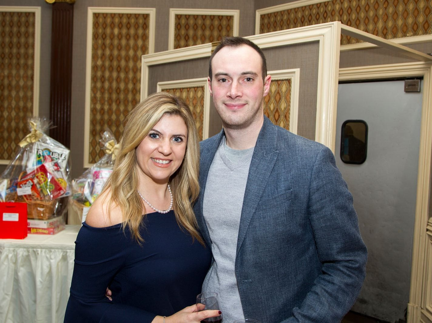 Kaitlyn and Michael Funtsch.  A Night at the Races hosted by OASIS at the Brownstone in Paterson. 2/7/2019