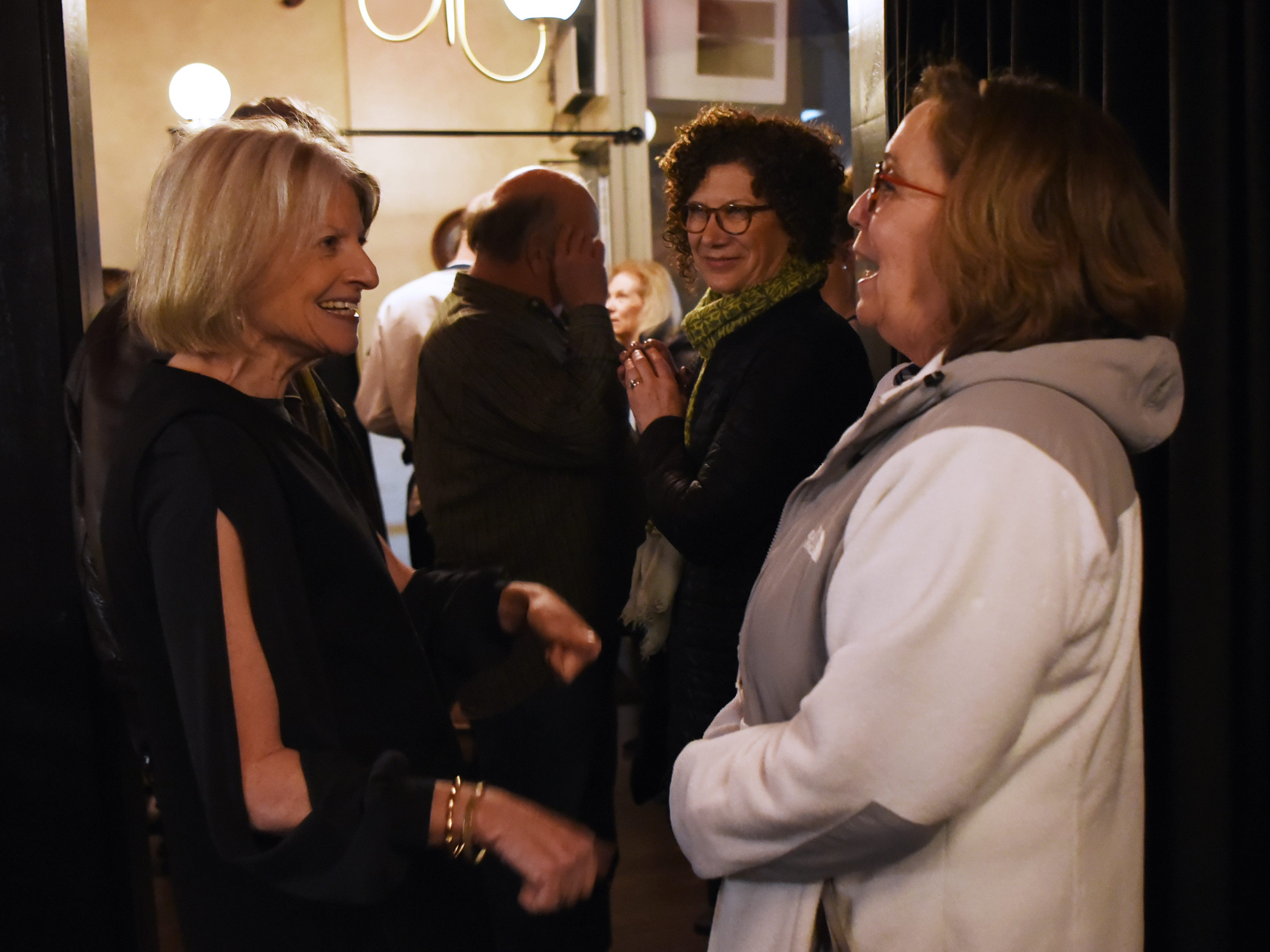 Food editor Esther Davidowitz greets guests during the dinner with Esther event at Technique, a French restaurant in Westwood on Thursday February 7, 2019.