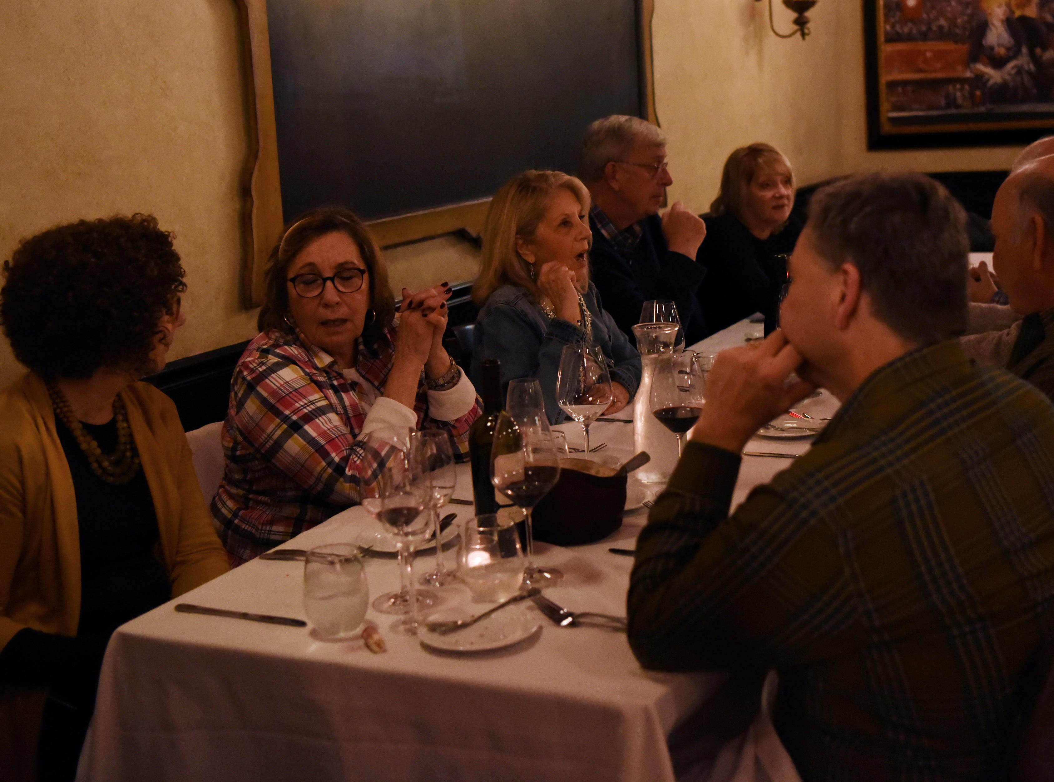 Diners during the dinner with Esther event at Technique, a French restaurant in Westwood on Thursday February 7, 2019.
