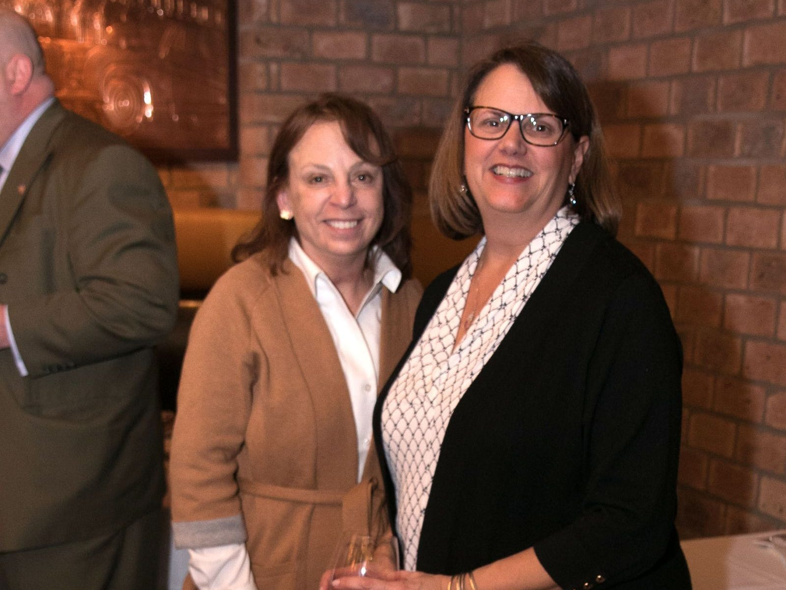 Laura Grabe, Donna Pierce. Christina Gibbons of Special Properties held a cocktail reception to acknowledge her clients at Roots Steakhouse in Ridgewood. 02/07/2019