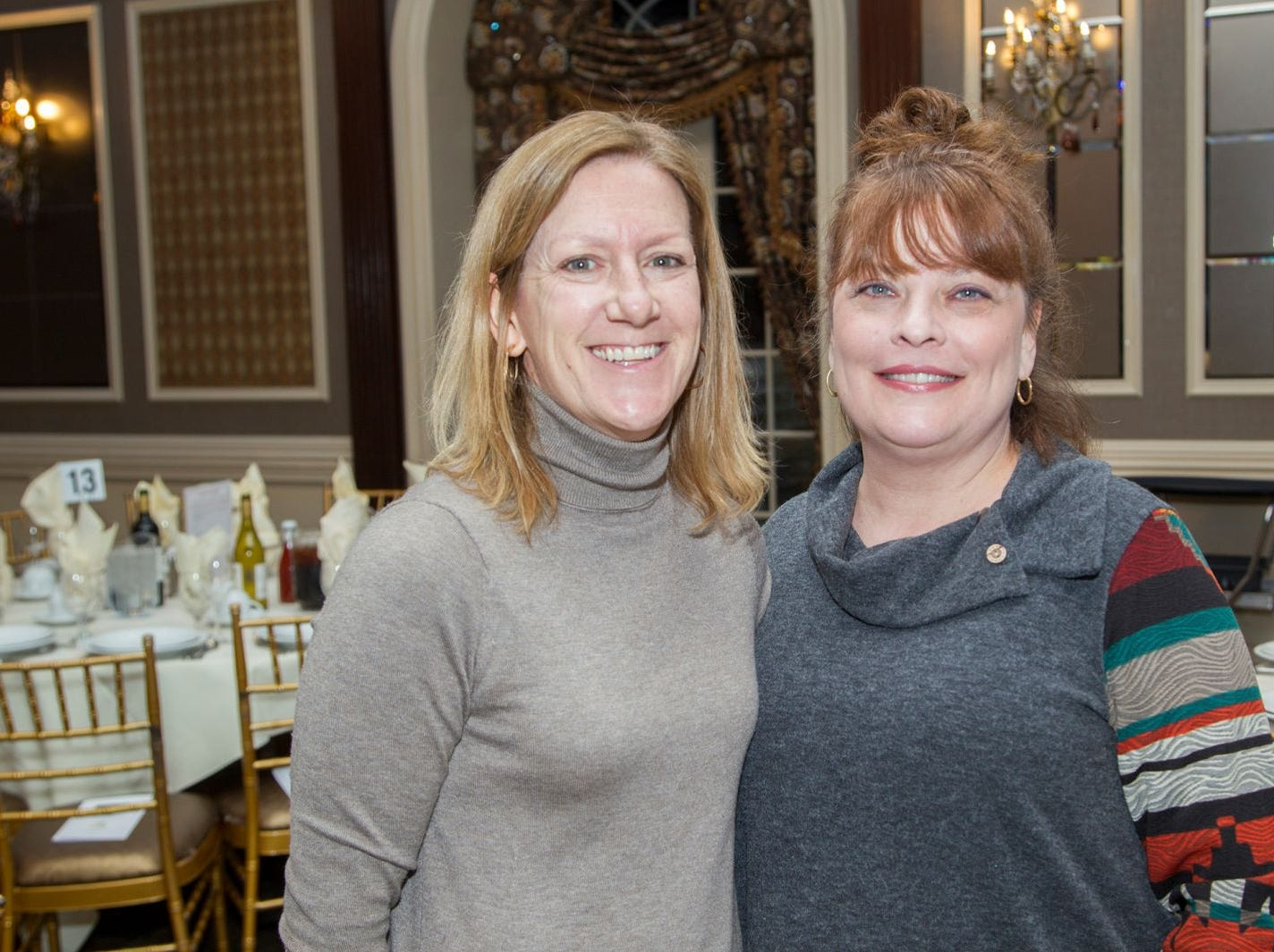 Audrey Pezzuti, Eileen Giordano.  A Night at the Races hosted by OASIS at the Brownstone in Paterson. 2/7/2019