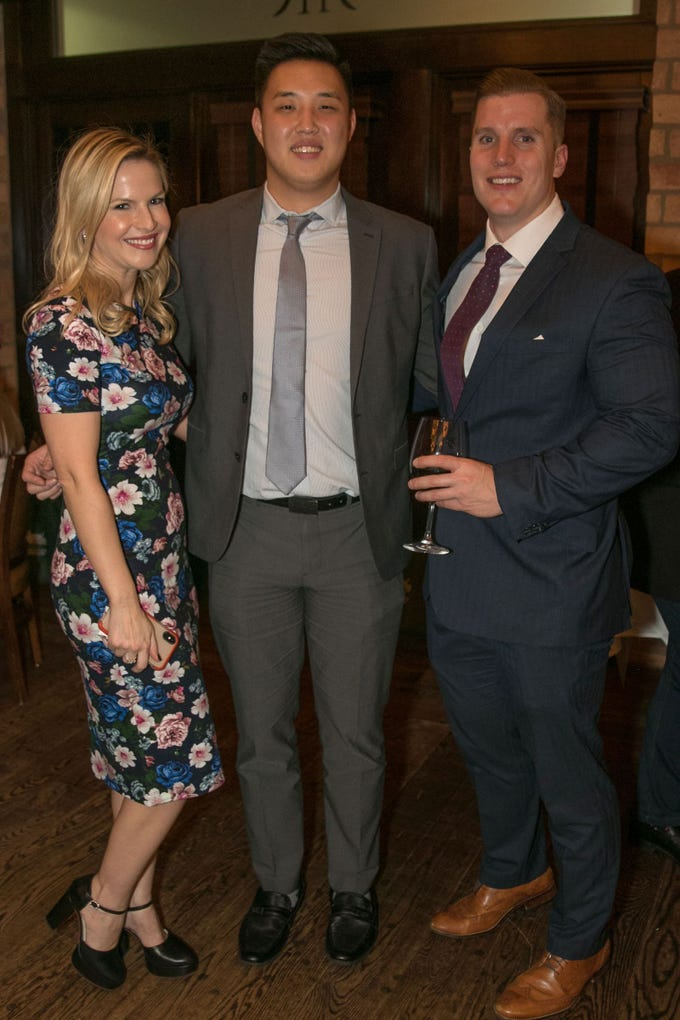 Sonja Cullaro, Min Kim, Bryan Struk. Christina Gibbons of Special Properties held a cocktail reception to acknowledge her clients at Roots Steakhouse in Ridgewood. 02/07/2019
