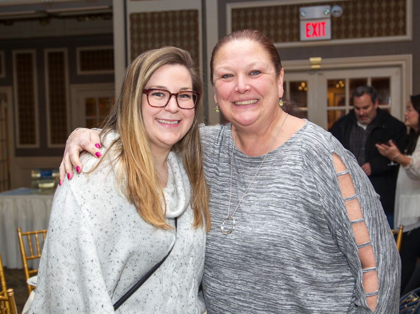 Jessica Leach, Diane Wojcik.  A Night at the Races hosted by OASIS at the Brownstone in Paterson. 2/7/2019