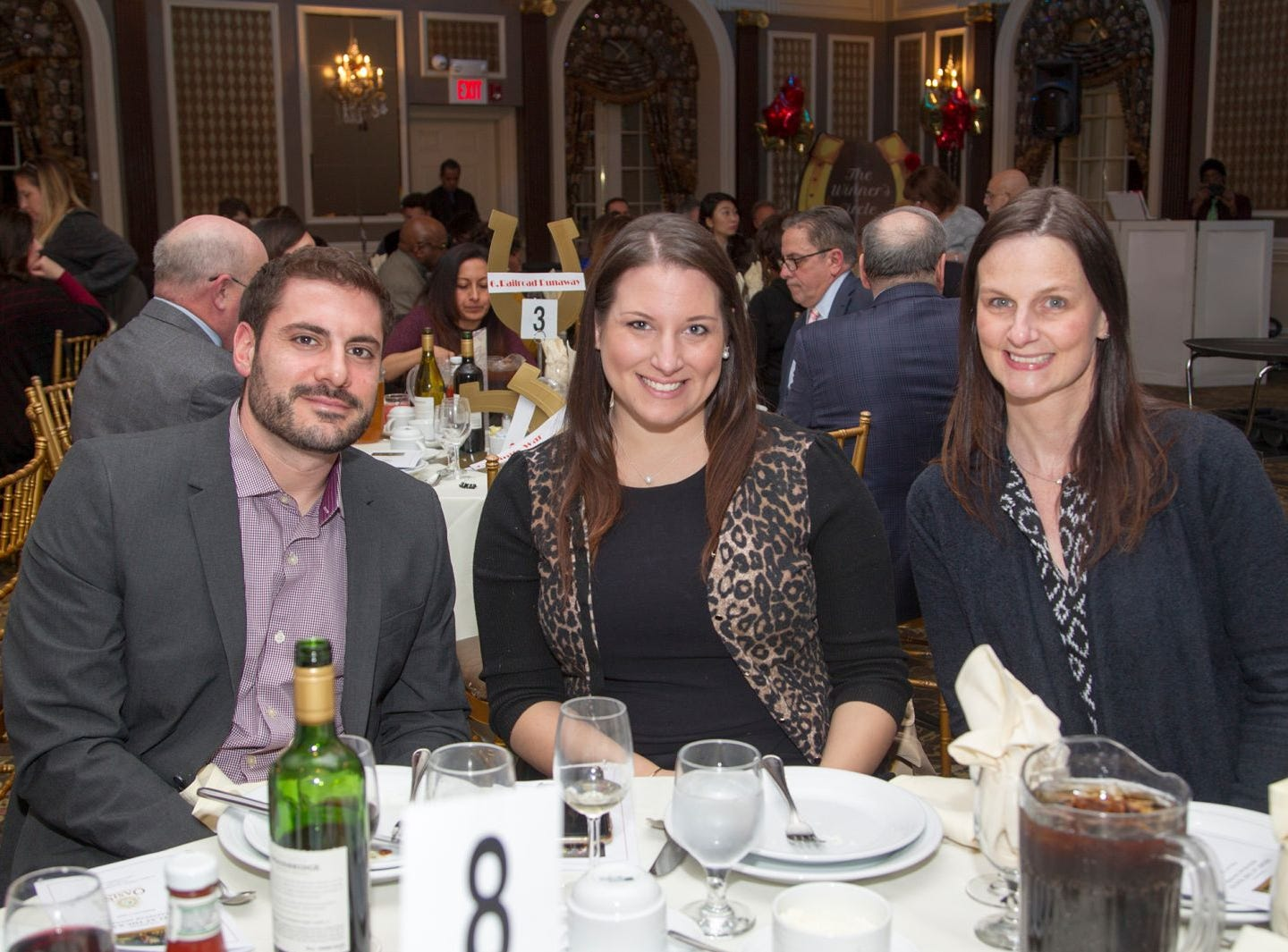 Matthew Ganguzza, Kristi Wendel, Jessica Neuendoff. A Night at the Races hosted by OASIS at the Brownstone in Paterson. 2/7/2019