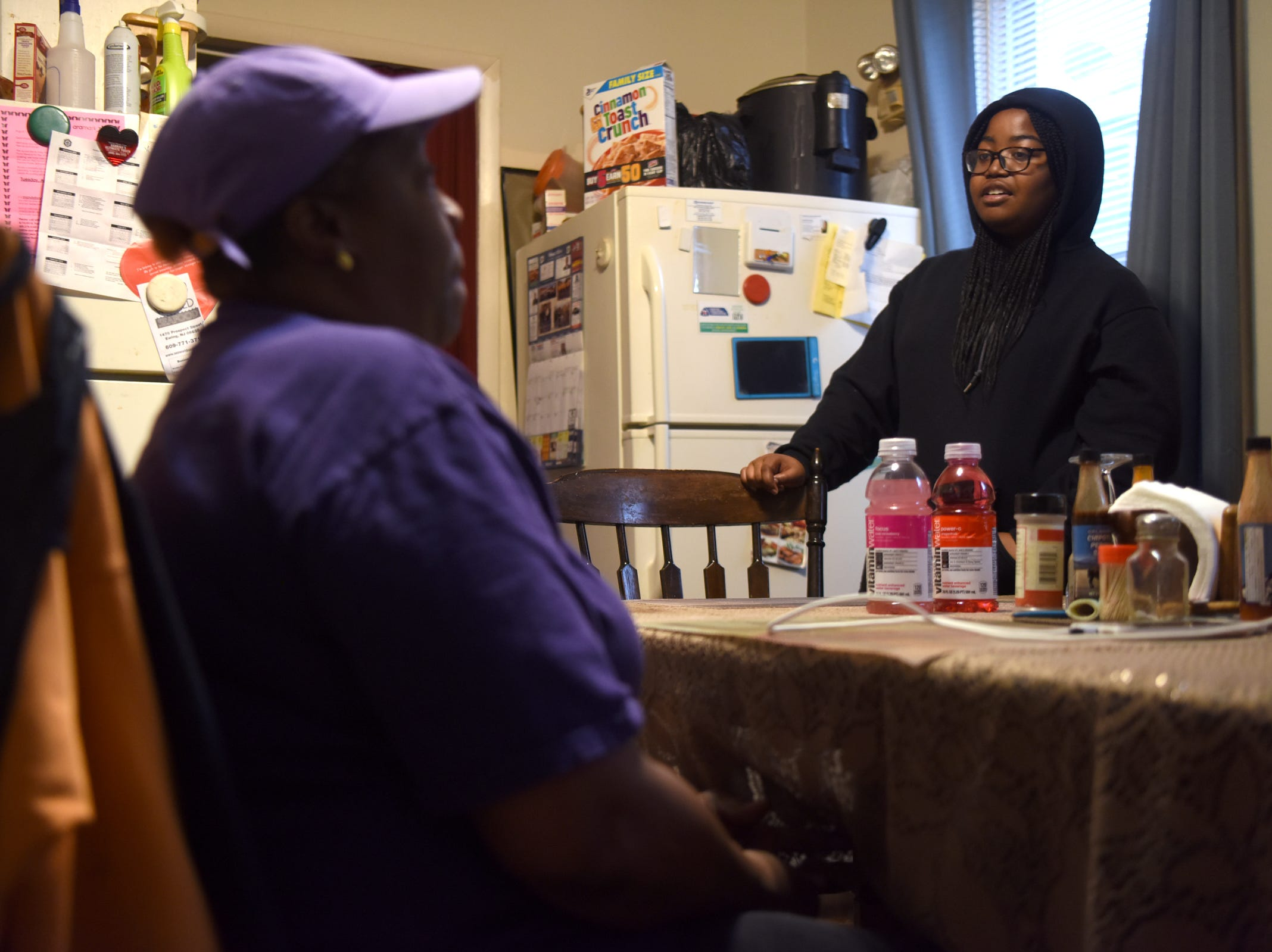 Leslie Hall and her daughter Princess, 14, stick to a strict budget to make Mann's salary of $11.90 an hour as a food service worker stretch out to meet their needs. Hall, a homeowner in Trenton, is optimistic and excited about the recent bill Gov. Murphy signed increasing New Jersey's minimum wage to $15 an hour.