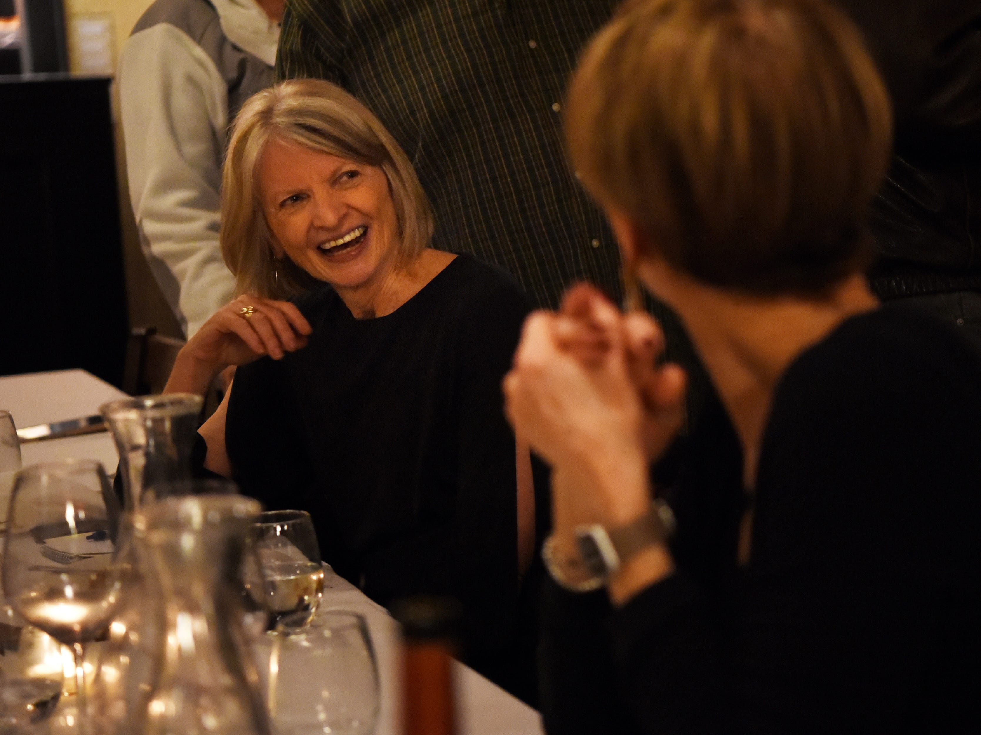 Food editor Esther Davidowitz chats with guests during the dinner with Esther event at Technique, a French restaurant in Westwood on Thursday February 7, 2019.