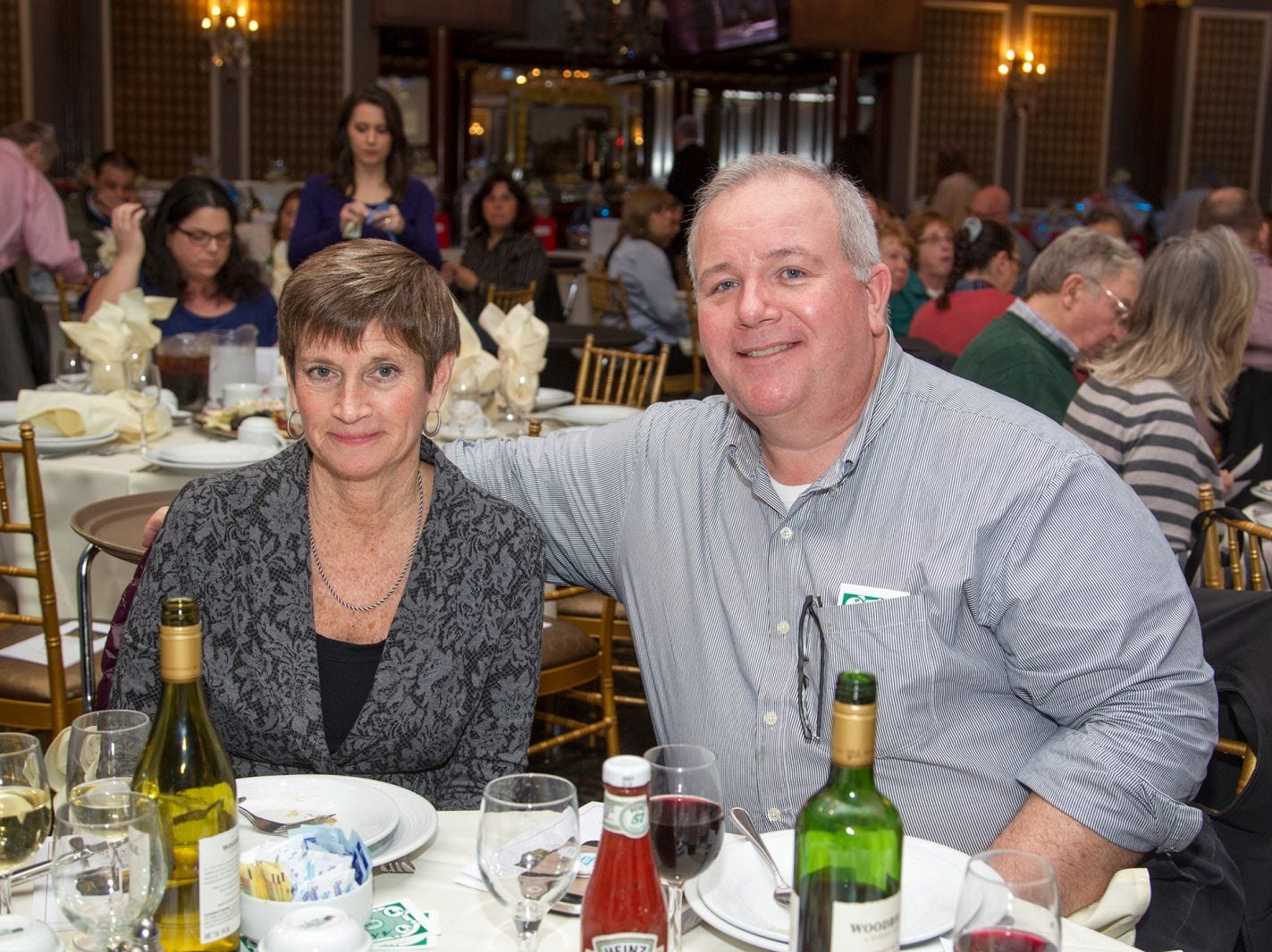 Nancy McHale, Don Tassitano. A Night at the Races hosted by OASIS at the Brownstone in Paterson. 2/7/2019
