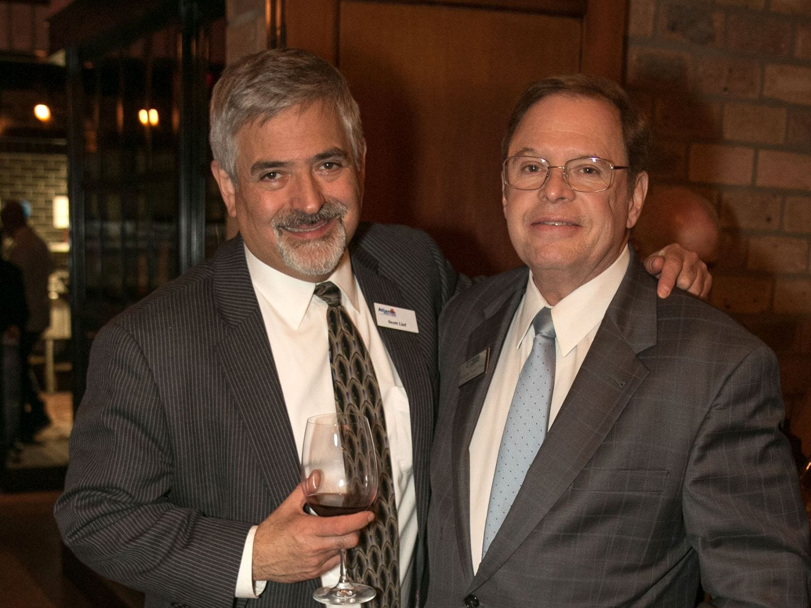 Scott Lief, Randy Wine. Christina Gibbons of Special Properties held a cocktail reception to acknowledge her clients at Roots Steakhouse in Ridgewood. 02/07/2019