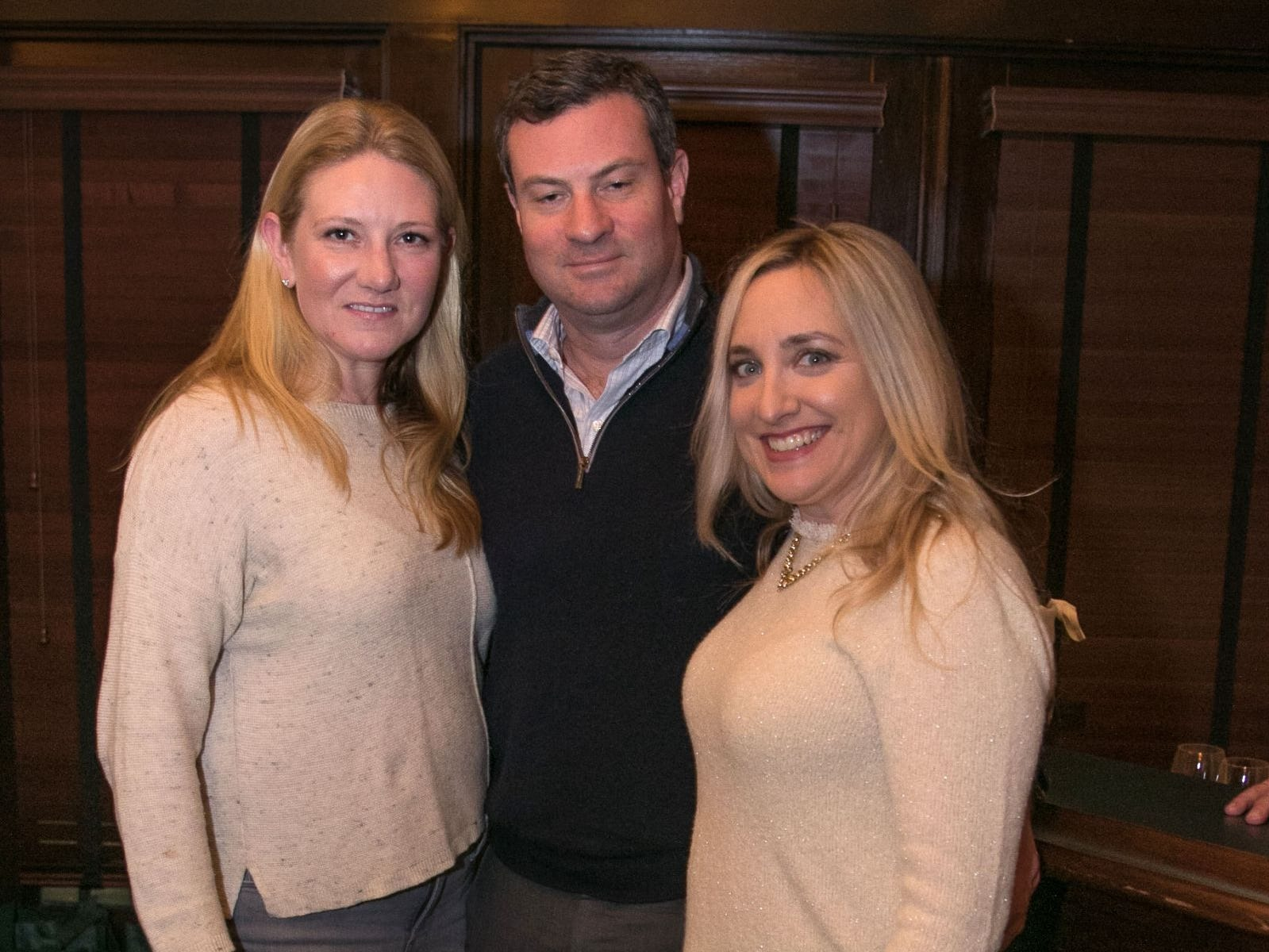 Corrie Gaffoglio. Gerald Chaney, Stephanie Reynolds. Christina Gibbons of Special Properties held a cocktail reception to acknowledge her clients at Roots Steakhouse in Ridgewood. 02/07/2019