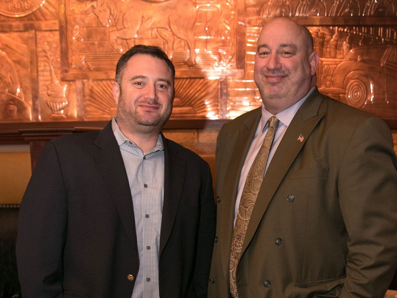 Scott Orr, Eric Abramson. Christina Gibbons of Special Properties held a cocktail reception to acknowledge her clients at Roots Steakhouse in Ridgewood. 02/07/2019